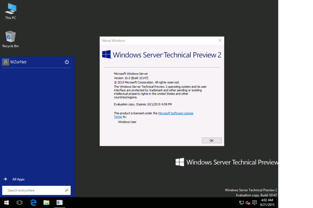 Windows 10 servertechnical preview 2 x64 direct download for Windows direct